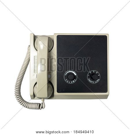 paging system on board drilling rig or oil and gas platform. This equipment will be used to trigger emergency alarm and make announcement and comunication isolated on white with clipping path