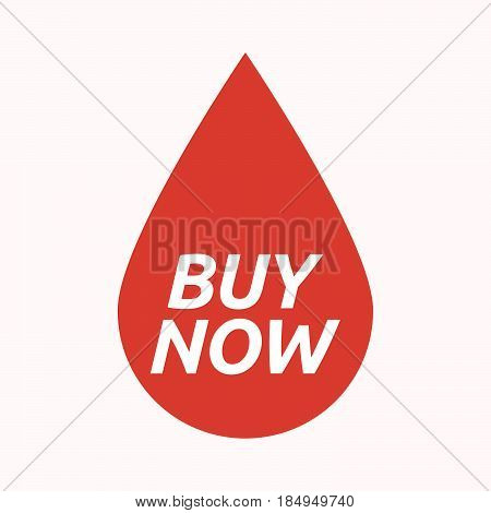 Isolated Blood Drop With    The Text Buy Now