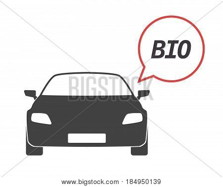 Isolated Car With  The Text  Bio