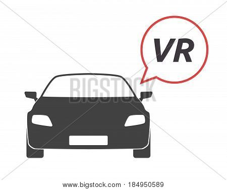 Isolated Car With    The Virtual Reality Acronym Vr