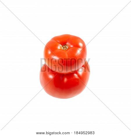 A Tomato. Red Tomato On A White Background. Harvest Vegetables. Autumn Harvest. Red, Juicy, Ripe Tom