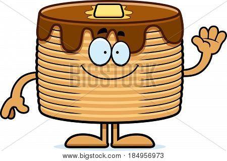 Cartoon Pancakes Waving