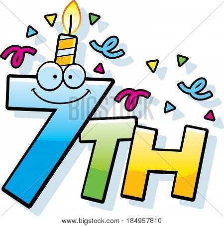 Cartoon 7Th Birthday
