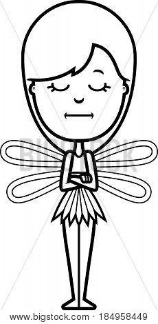 Bored Cartoon Teen Fairy
