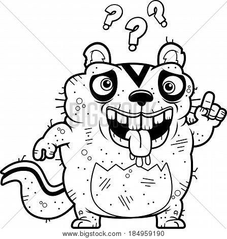 Cartoon Confused Ugly Chipmunk
