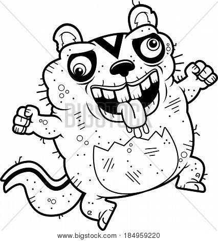 Cartoon Crazy Ugly Chipmunk