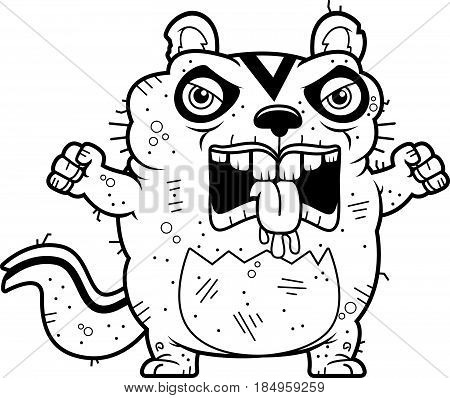 Cartoon Angry Ugly Chipmunk