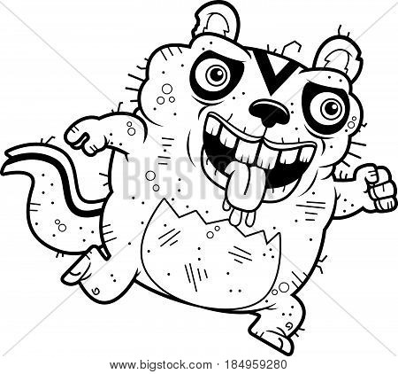 Cartoon Ugly Chipmunk Running