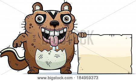 Cartoon Ugly Chipmunk Sign