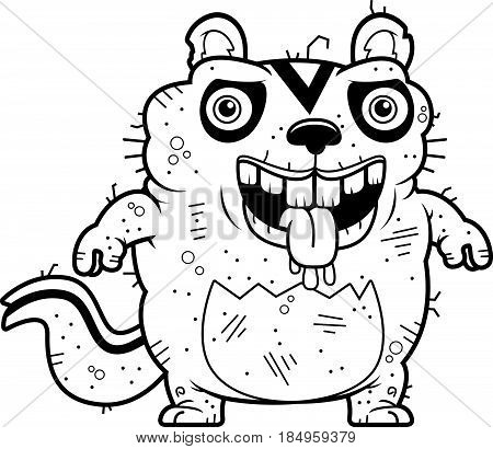 Cartoon Ugly Chipmunk Standing