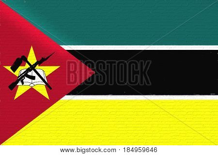 Flag Of Mozambique Wall.