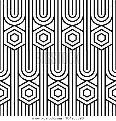 Seamless Art Deco background cube texture pattern.Vector illustration.