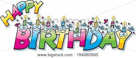 Cartoon Happy Birthday Text