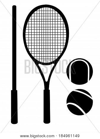 Tennis Racket Ball Tennis Gear For The Game Vector Illustration Isolared On White