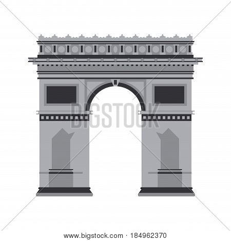 arc de triomphe icon image vector illustration design