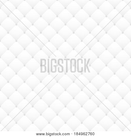 White Leather Upholstery Vector Seamless Pattern Quilted Texture Can Be Used In Web