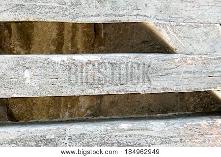 Wooden slats and a worn bottom behind for background or wallpaper template