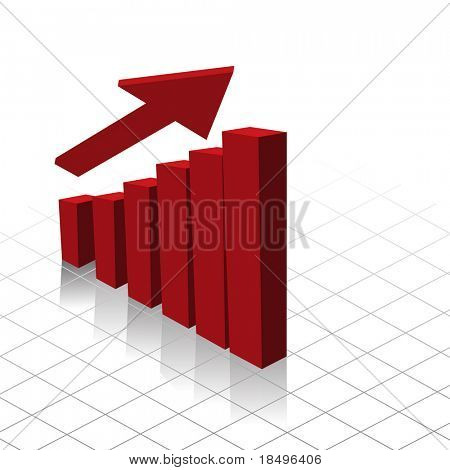 Vector - Graph chart showing profit increase. Useful for business reports.