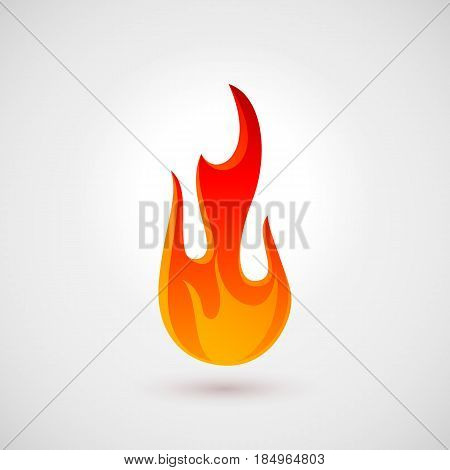 Fire Icon in Flat Style. Illustration for Web Site Design