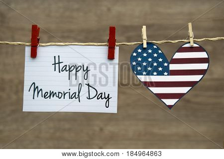 Happy Memorial Day greeting card or background.
