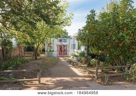 GREYTON SOUTH AFRICA - MARCH 27 2017: A small shop in Greyton a small town in the Western Cape Province of South Africa