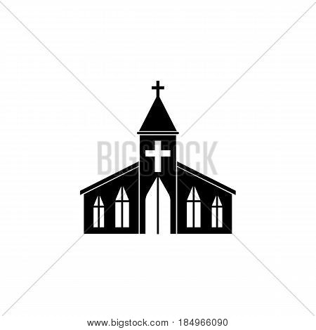 Church solid icon, religion building elements, Religious sign, a filled pattern on a white background, eps 10.