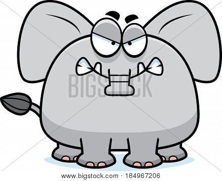 Angry Cartoon Elephant