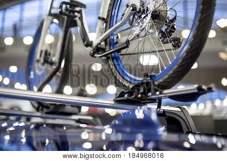 Bicycle On The Car Roof