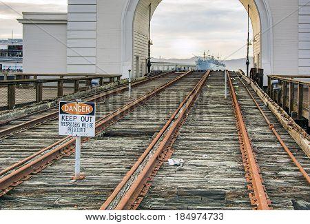 San Francisco CA USA october 2016: SS Jeremiah O'Brien ship at San Francisco Bay