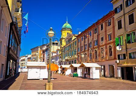 Korzo Square In City Of Rijeka