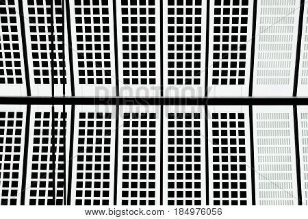 Pattern black white block roof detail shot Central Station Rotterdam