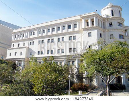New Psychology building of Bar-Ilan University in Ramat Gan Israel