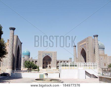 The architectural ensemble Registan in Samarkand Uzbekistan
