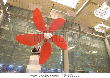 SINGAPORE - CIRCA AUGUST, 2016: Daisy at Singapore Changi Airport. Changi Airport is one of the largest transportation hubs in Southeast Asia.