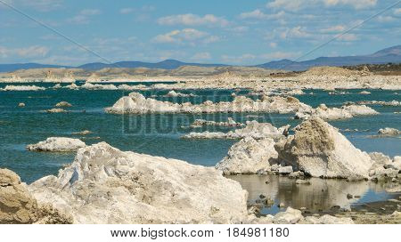 A view of the mono lake tufa Nature Resenve