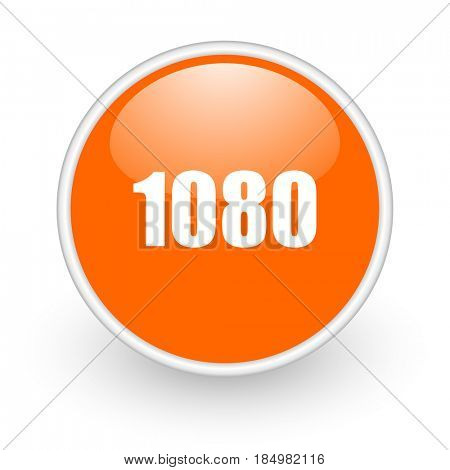 1080 modern design glossy orange web icon on white background.