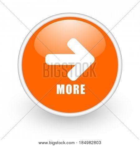 More modern design glossy orange web icon on white background.