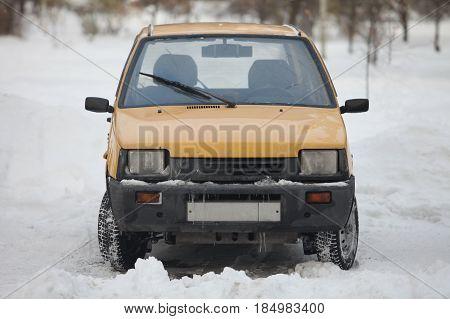 St. Petersburg Russia November 13 2016 Minicar VAZ-1111