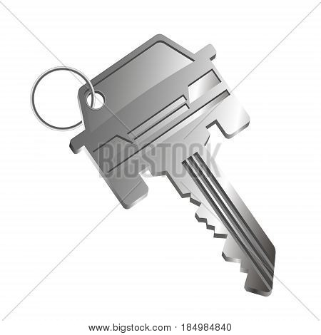 The car key is silhouetted. Sale lease and purchase of cars.
