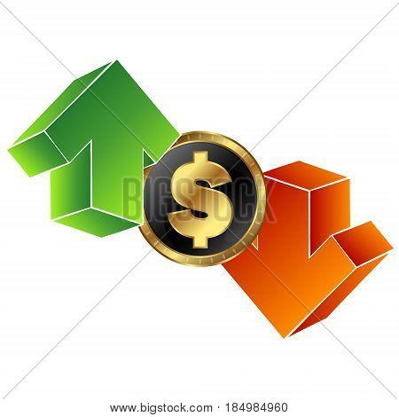 Exchange rate symbol for vector illustration business