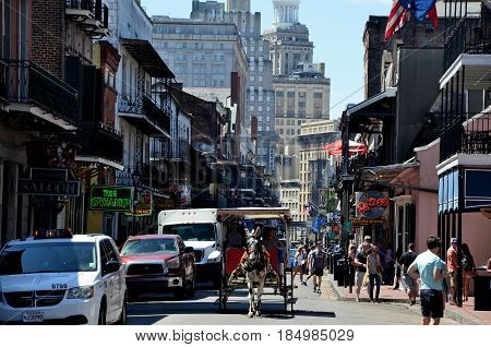 New Orleans Louisiana USA - 01 april 2017 - The French Quarter is a major tourist attraction in New Orleans.