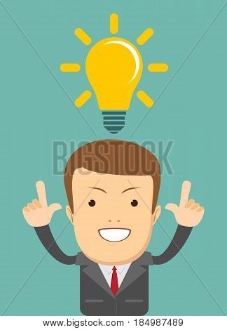 thinking business concept . Stock vector illustration for poster, greeting card, website, ad, business presentation, advertisement design