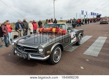 NOORDWIJK NETHERLANDS - 22 APRIL 2017: the traditional flowers parade Bloemencorso from Noordwijk to Haarlem in the Netherlands.