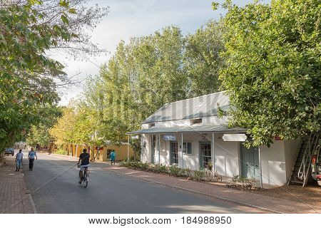 GREYTON SOUTH AFRICA - MARCH 27 2017: A furniture shop Die Muishuis in the Railway House dating from 1898 in Greyton a small town in the Western Cape Province of South Africa