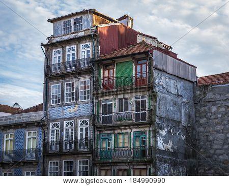 Residential buildings of Vitoria district in Porto Portugal