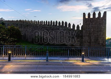 Walls of D. Fernando in Porto city Portugal