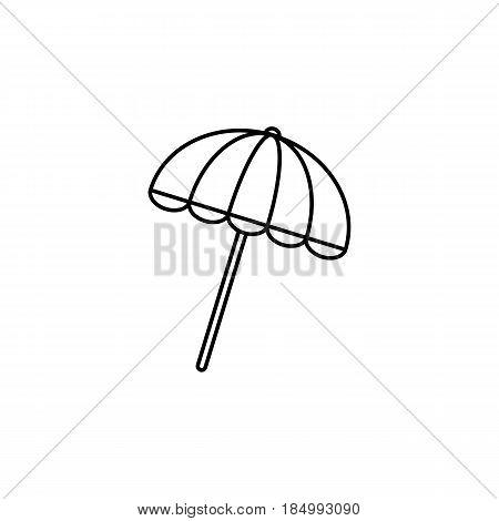 Sun umbrella line icon, travel tourism, parasol, a linear pattern on a white background, eps 10.