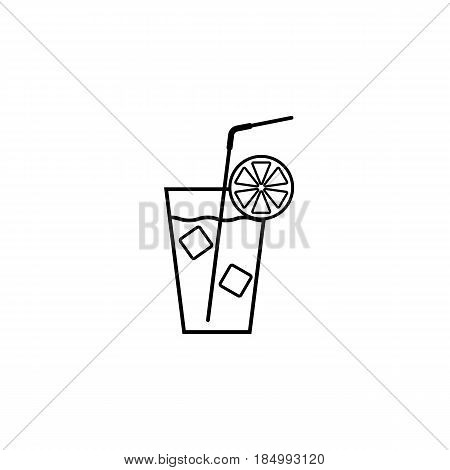Cocktail line icon, food drink, tipple, a linear pattern on a white background, eps 10.