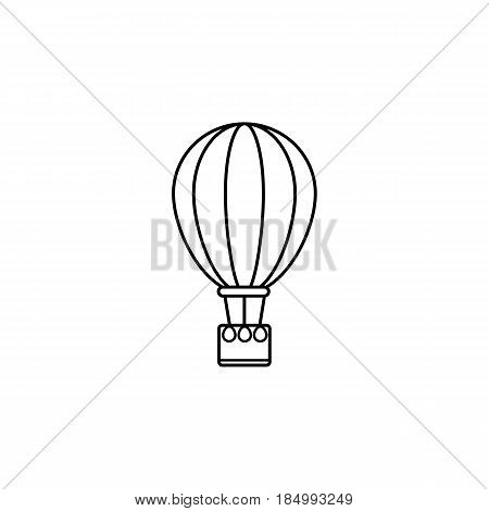 Hot air balloon line icon, travel tourism, fly transport, a linear pattern on a white background, eps 10.