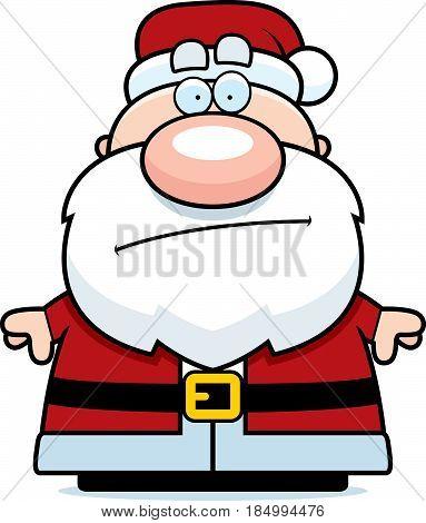 Cartoon Santa Claus Bored